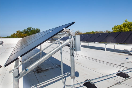 Photovoltaic Solar Panels at Roof