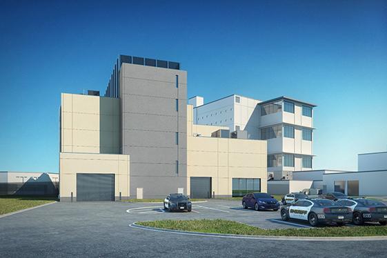 Jail Infrastructure Building - West Elevation