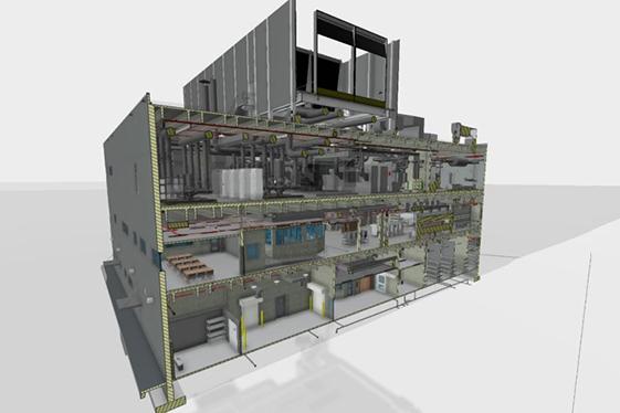 Jail Infrastructure Building - Longitudinal Section